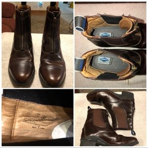 Ariat 10027238 Women Devon Nitro Leather Round Toe Waxed Chocolate Paddock Boot